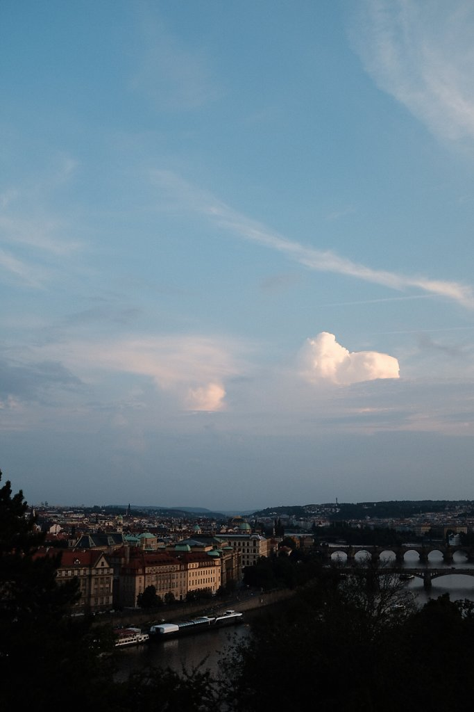 Prague, View over the river